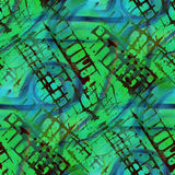 Pattern design seamless green, blue watercolor. Texture background wallpaper hand-drawing Royalty Free Stock Photography