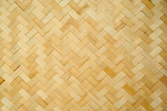 Pattern and design of Thai style bamboo handcraft Stock Images