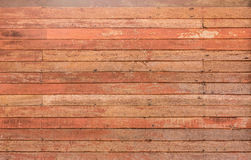 Pattern detail of old red wood strip texture Stock Photos