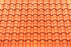 Pattern detail of orange ceramic roof tiles Stock Image