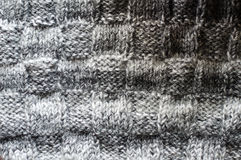 Pattern detail of woven handicraft knit sweater or cardigan Royalty Free Stock Photos