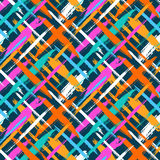 Pattern with diagonal stripes and crosses Stock Photos