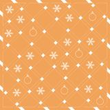 Pattern of diagonal stripes or lines in nice colors with snowfla. Kes and Christmas balls. Abstract grid texture. Graphic background design Royalty Free Illustration