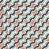 Pattern with diagonal waves Stock Photography