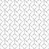Seamless Silvery Geometric Squares Pattern in White Background stock illustration