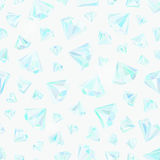 Pattern with diamonds. Vector seamless pattern with brilliants and precious stones Royalty Free Stock Photography