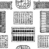 Pattern with different abacus Stock Photos