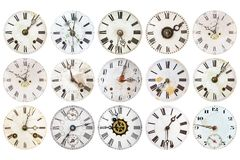 Pattern of antique weathered clocks Royalty Free Stock Image