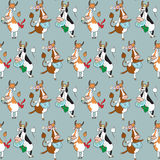 Pattern with different cows Stock Photos
