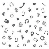 Pattern of different icons Royalty Free Stock Image