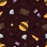 Pattern with different objects Royalty Free Stock Image