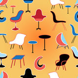 Pattern of different seating Furniture Royalty Free Stock Images