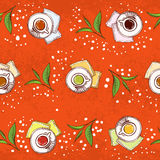 Pattern with different sorts of tea Stock Photos