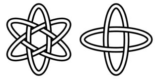 Pattern digital science, icon of the atom movement of electrons in an orbit, the vector sign of quantum physics. Pattern digital science, the icon of the atom vector illustration