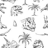 Pattern of dino head Royalty Free Stock Photography