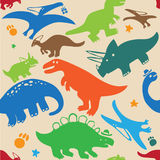 Pattern dinosaur. Pattern of different fun and cute dinosaur Royalty Free Stock Image