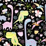 Pattern of dinosaurs Royalty Free Stock Photos