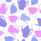Pattern with dishes Royalty Free Stock Image