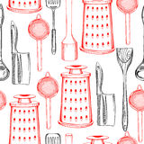 Pattern with dishes Royalty Free Stock Photo