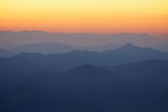 Pattern of distant mountain layers Stock Image