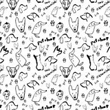 Pattern dog with black color stock images