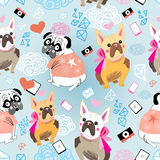 Pattern  of a dog Bulldogs Stock Image