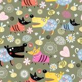 Pattern of dog lovers stock illustration
