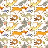 Pattern with dogs Royalty Free Stock Photography