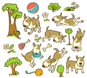 Pattern with dogs Stock Photos