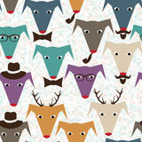 Pattern with dogs Royalty Free Stock Images
