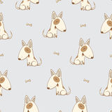 Pattern with dogs. Stock Photo