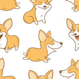 Pattern with dogs. Royalty Free Stock Photos