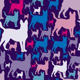 Pattern with dogs. seamless texture. Royalty Free Stock Photography