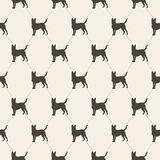 Pattern with dogs. seamless texture. Royalty Free Stock Images