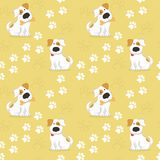 Pattern with dogs and traces of dog paws. Stock Photography