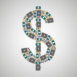 Pattern dollar. Business, multicolored, vector format Royalty Free Stock Image
