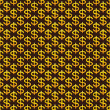 Pattern with dollar sign Stock Images