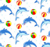 Pattern with dolphins Royalty Free Stock Images