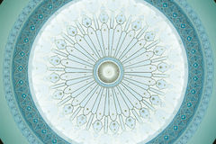Pattern on Dome Ceiling. Islamic calligraphy pattern on a dome ceiling Stock Photo