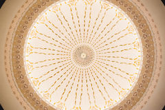 Pattern on Dome Ceiling Stock Images