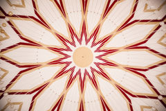 Pattern on Dome Ceiling Royalty Free Stock Image