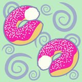 Pattern with donuts Royalty Free Stock Images