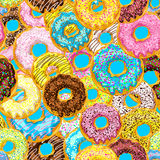 Pattern from donuts Royalty Free Stock Images