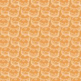 Pattern with donuts, popular food for Chanukah. Seamless pattern with donuts, Sufganiyah. Popular food for Chanukah. Jewish holiday Hanukkah royalty free illustration