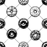 Pattern with donuts Royalty Free Stock Photo