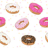 Pattern with donuts Royalty Free Stock Photography