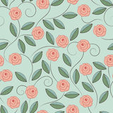 Pattern of doodle roses. Royalty Free Stock Photography