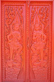 Pattern of door. A Buddha pattern on a door of a temple Stock Photos