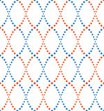 Pattern of dots, blue and orange Royalty Free Stock Photo