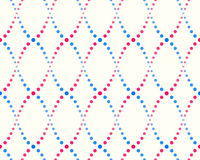 Pattern of dots, blue and pink. Abstract seamless pattern of dots, blue and pink on a white background Royalty Free Stock Images